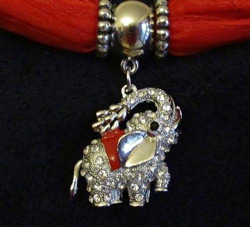 IlluminEssence Red diamante elephant