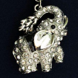 IlluminEssence Black diamante elephant