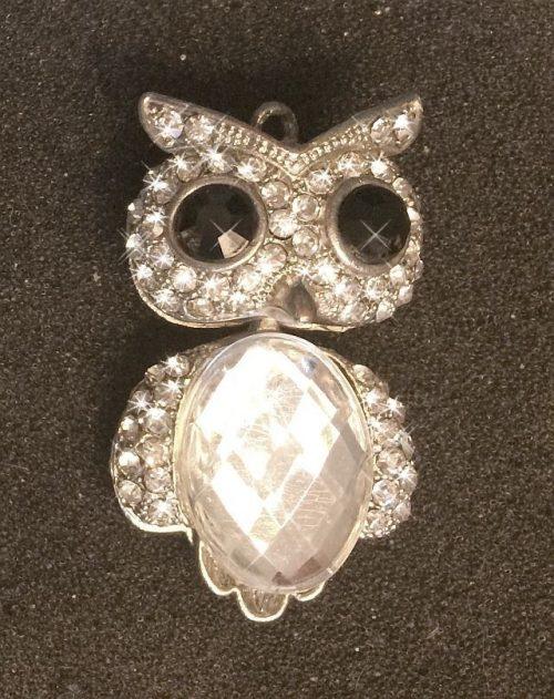 IlluminEssence diamante owl pendant