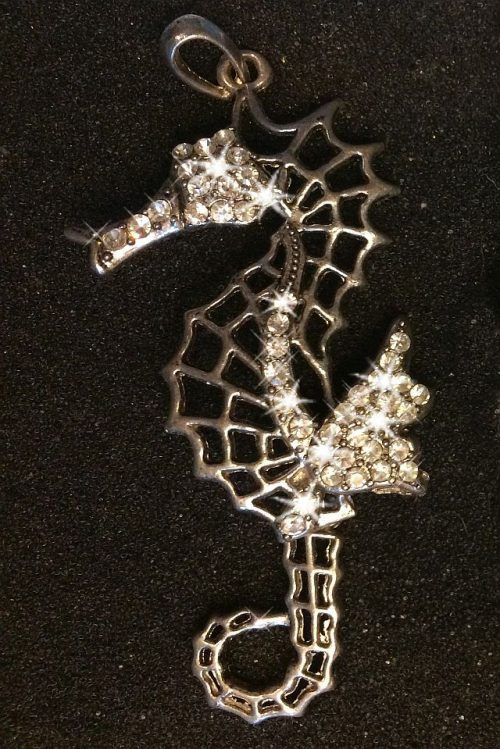 IlluminEssence diamante seahorse pendant